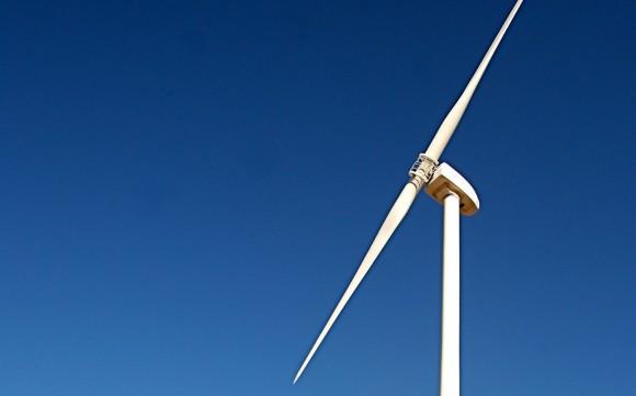 Větrná elektrárna stojící u americké vojenské základny Fort Huachuca. foto: US Army MWR