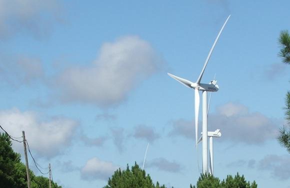 Větrné turbíny v Portugalsku, foto: Ekobydení.eu