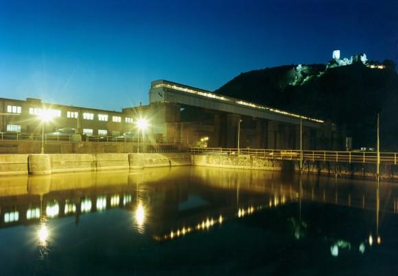 Vodní elektrárna Střekov na Labi v Ústí nad Labem, Česká republika. Výkon 19,5 MW. foto: ČEZ
