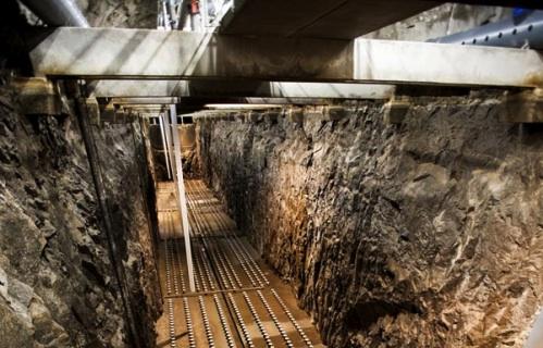 Vodní tunel v žulovém podloží Stockholmu. foto: GE