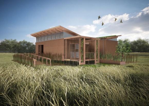 Šetrné ekologické bydlení - to je WaterShed, dům navržený studenty Marylandské univerzity