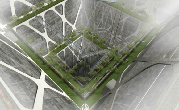 Zemědrap - 65 podlaží v zemi, foto: BNKR Arquitectura
