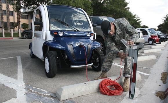 americká armáda elektromobily