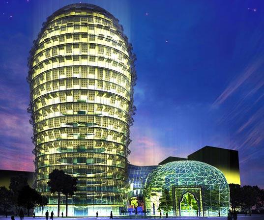 architektura - katar - mrakodrap jako kaktus