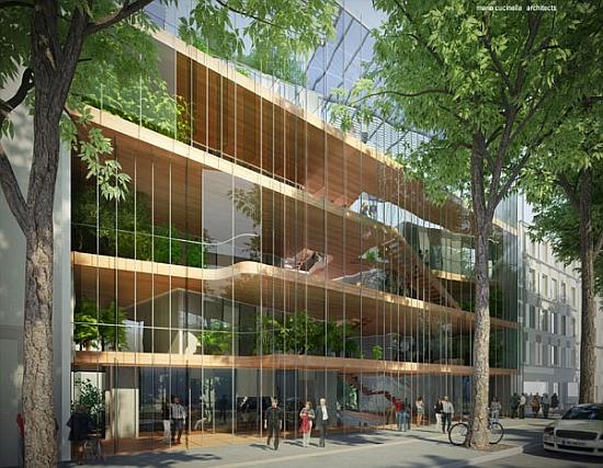 Mario Cucinella Architects - nová obytná šetrná budova