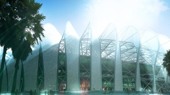 architektura stadion Casablanca Maroko