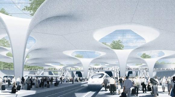 architektura - Stuttgart - nové hlavní nádraží