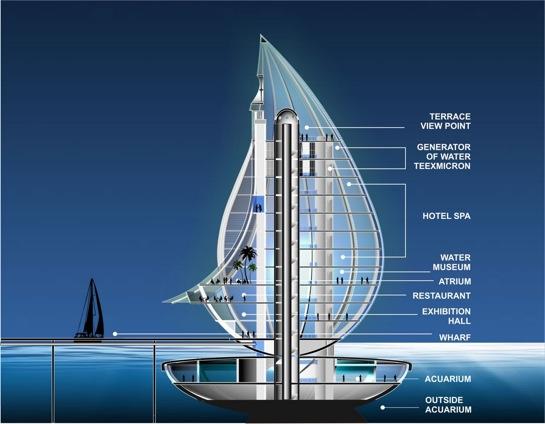 TeexMicron Tower - věž jako kapka vody