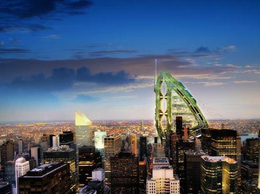 Vážka - městská farma pro New York budoucnosti