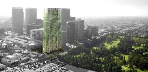 Zelená věž od Jeana Nouvela pro Los Angeles