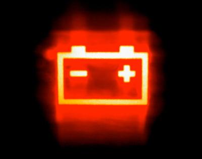 eblém baterie