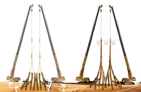 pískové stožáry