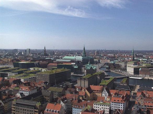 Dánsko - Kodaň - zelené střechy