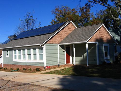 Kalifornie: dům se solárními panely