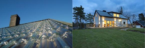 domy - střechy - skleněné střešní tašky
