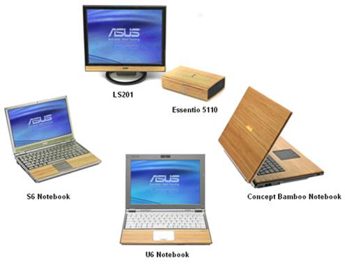 dřevěné počítače Asus