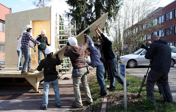 dřevostavby - Luukku šetrný dům - Solární desetiboj - práce