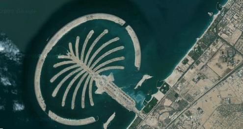 Dubaj - Spojené arabské emiráty - ostrovy společnosti Nakheel