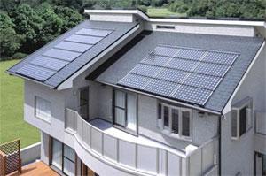Dům se solárními články