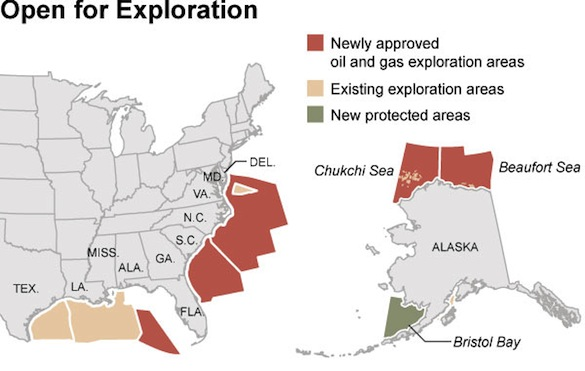 ekologické katastrofy - průzkum ropných nalezišť