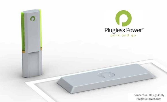 elektromobily dobíjecí stanice Plugless Power