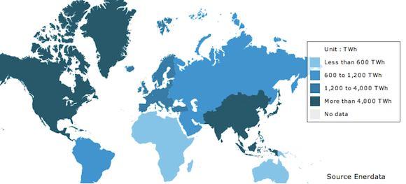 energetika spotřeba energie ve světě
