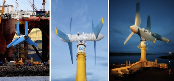 energie vln - podmořská přílivová turbína