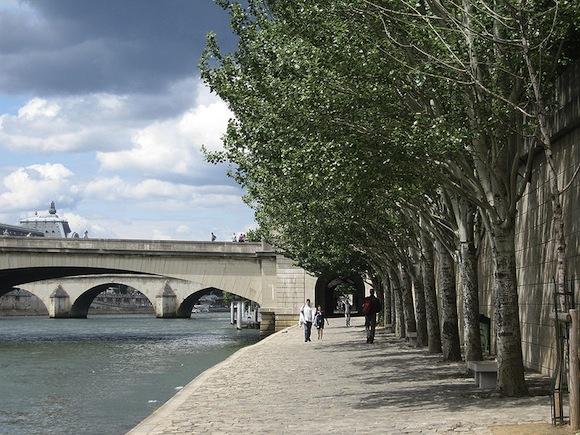 Francie Paříž Seina most