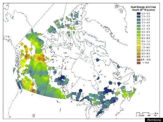 geotermální energie v Kanadě
