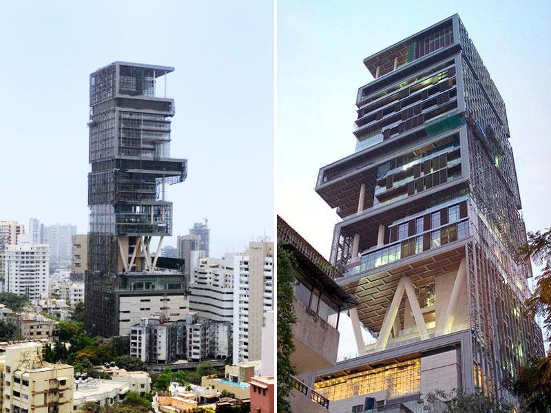 Indie - Bombaj - Antilia - nejdražší rodinný dům
