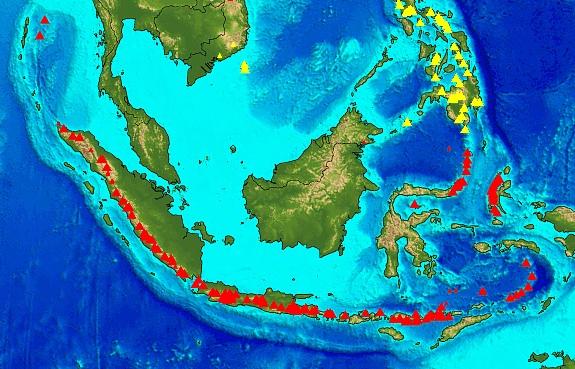 Ekologické bydlení obrázky Indonésie vulkány