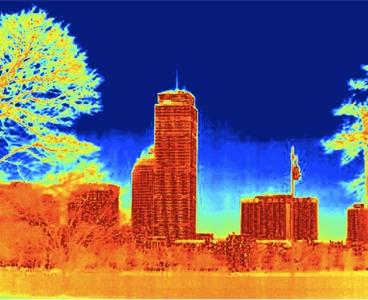 infračervený obraz města