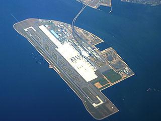 letiště Chubu na umělém ostrově - Japonsko