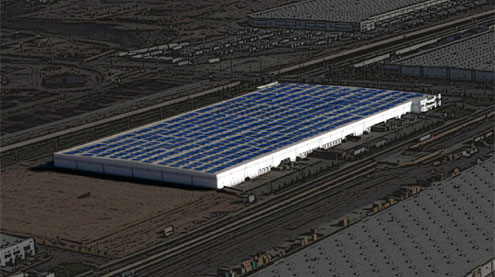 Kalifornie - solární farmy