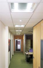 LED osvětlení kanceláře