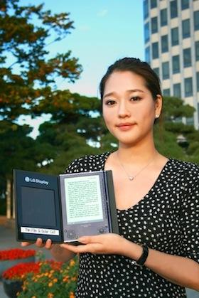 LG Display - solární elektronická čtečka e-knih
