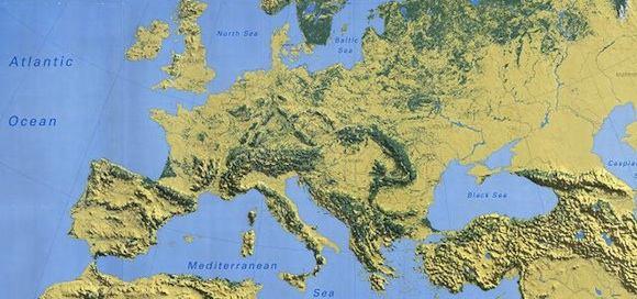 mapa Evropy lesy