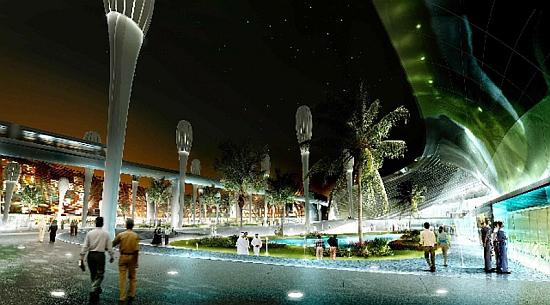Masdar City - náměstí od studia LAVA