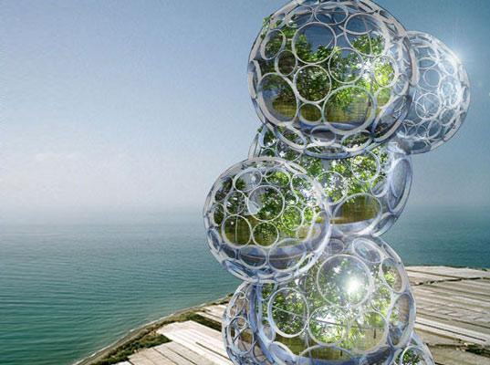 mrakodrapy - bublinkovitý mrakodrap - odsolovací zařízení
