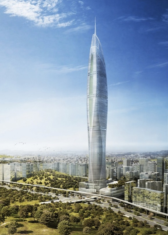 mrakodrapy - Digital Media Tower - Soul - Jižní Korea