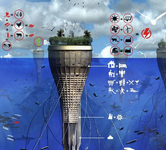 mrakodrapy H20 podmořský mrakodrap