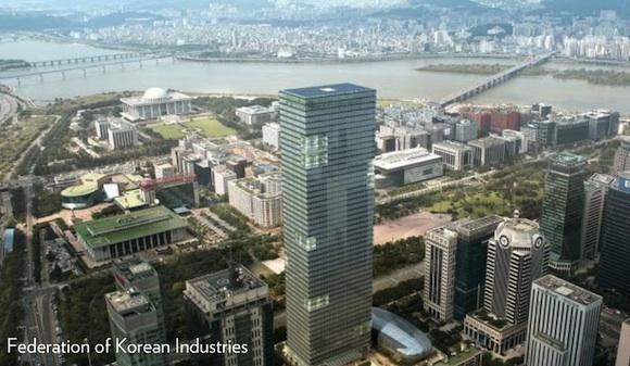 mrakodrapy - Jižní Korea - Soul Federace průmyslu