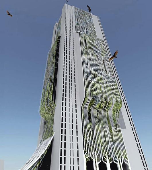 mrakodrapy - Moksha Tower