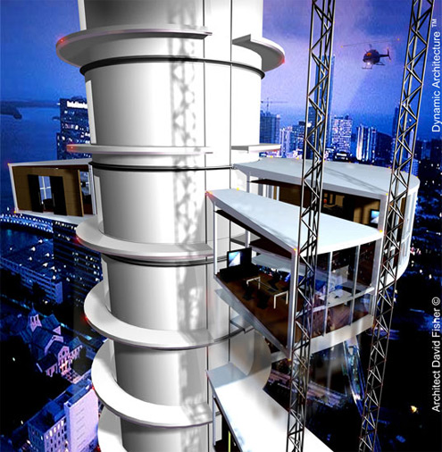 rotující mrakodrap společnosti Dynamic Architecture