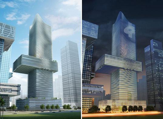 mrakodarp v Shenzhenu