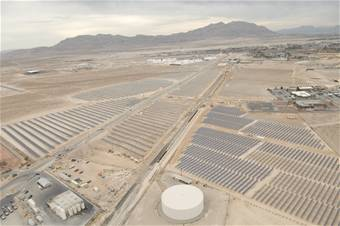 Solární elektrárna u základny Nellis
