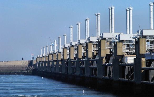 Ekologické bydlení obrázky Nizozemsko Delta Works