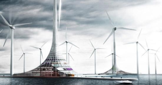 Norsko - město turbín