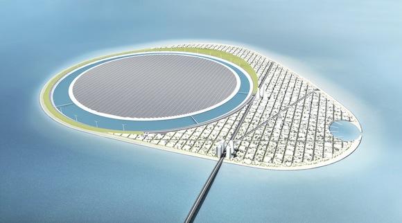 obnovitelné zdroje energie - Dánsko - Green Power Island - Bahrain