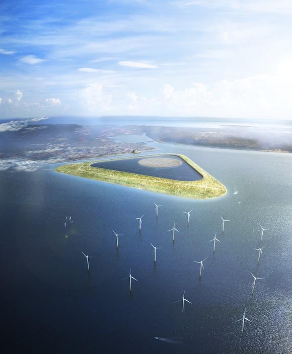 obnovitelné zdroje energie - Dánsko - Kodaň - Green Power Island